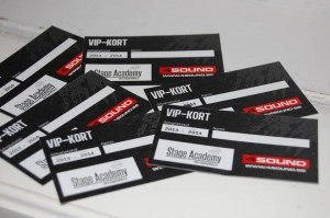 4SOUND VIP kort till alla deltagare i Stage Academy Camp
