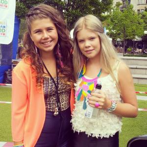 Felicia Vårnäs och Tilda Anvemyr Lilla DN Galan