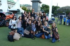 Albin med sina fans Lilla DN Galan