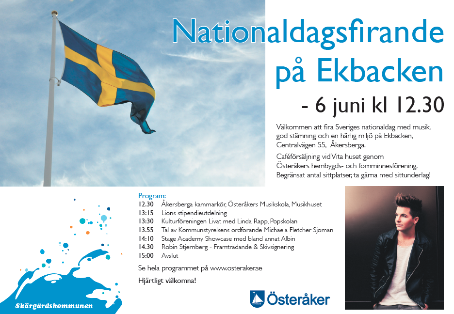 Ekbacken Åkersberga. Stage Academy Showcase kl 14.10 Robin Stjernberg framträdande & signering kl 14.30 i samarbete med Creativ event.