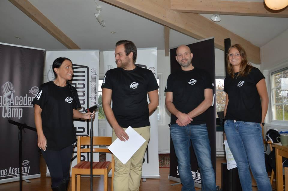 Stage Academy Camp Crew Annamia, Micke, Rolle och Malin. Nelly och Amanda saknas på bilden!